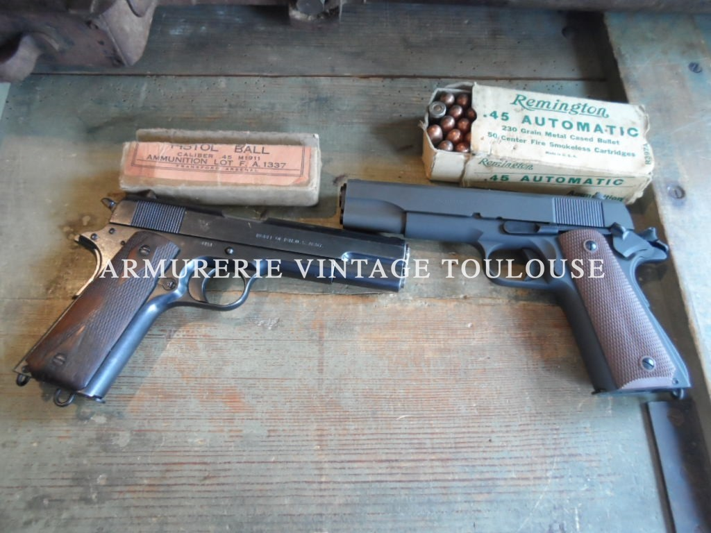 Pistolet Springfield Armory modèle 1911 calibre 45 acp fabrication 1913