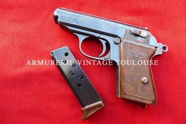 Pistolet Walther PPK calibre 7,65 fabrication Walther à l'usine de Zella-Mehlis (Thur.)