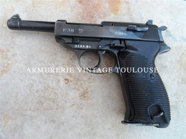 Beau Pistolet Walther P 38 calibre 9×19