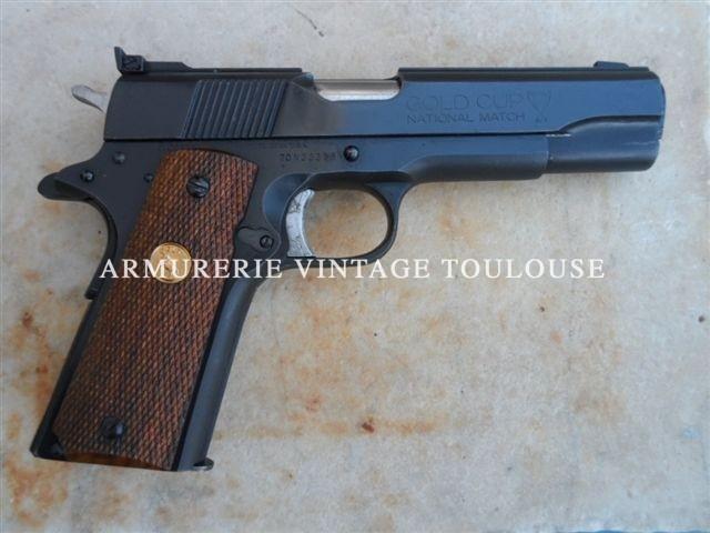 Pistolet Colt Gold Cup national Match calibre 45 ACP série 70