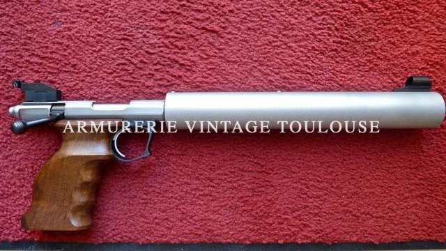petite annonce client : Pistolet Gaucher cal.22LR à un coup, modèle Custom Silence.