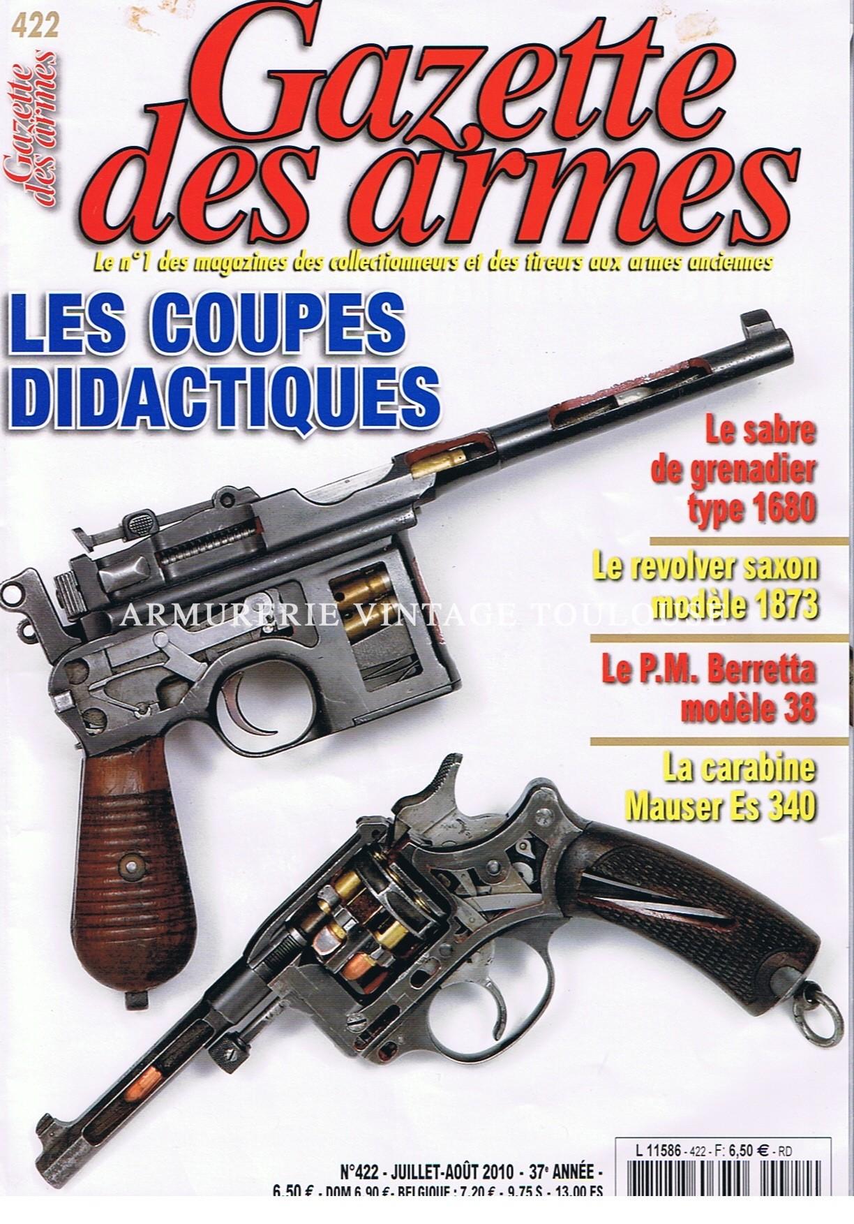 NOS ARMES DIDACTIQUES SUR LA GAZETTE DES ARMES