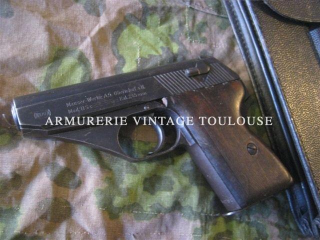 Pistolet calibre 7,65 Mauser HSC