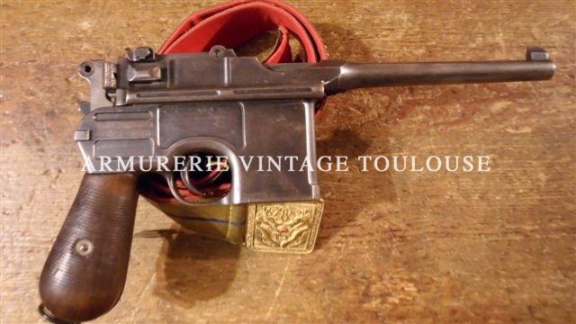 Pistolet semi-automatique Mauser C96 calibre 7,63 Mauser
