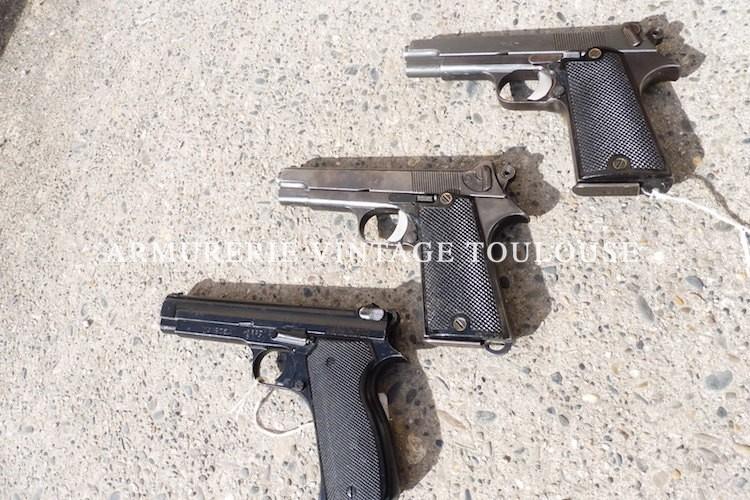 petit lot de pistolets réglementaires PA 35