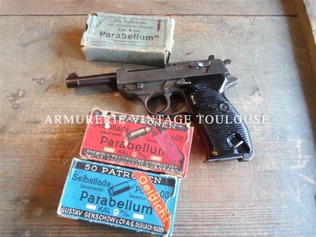 Walther P38 calibre 9X19 fabrication MAUSER en 1944
