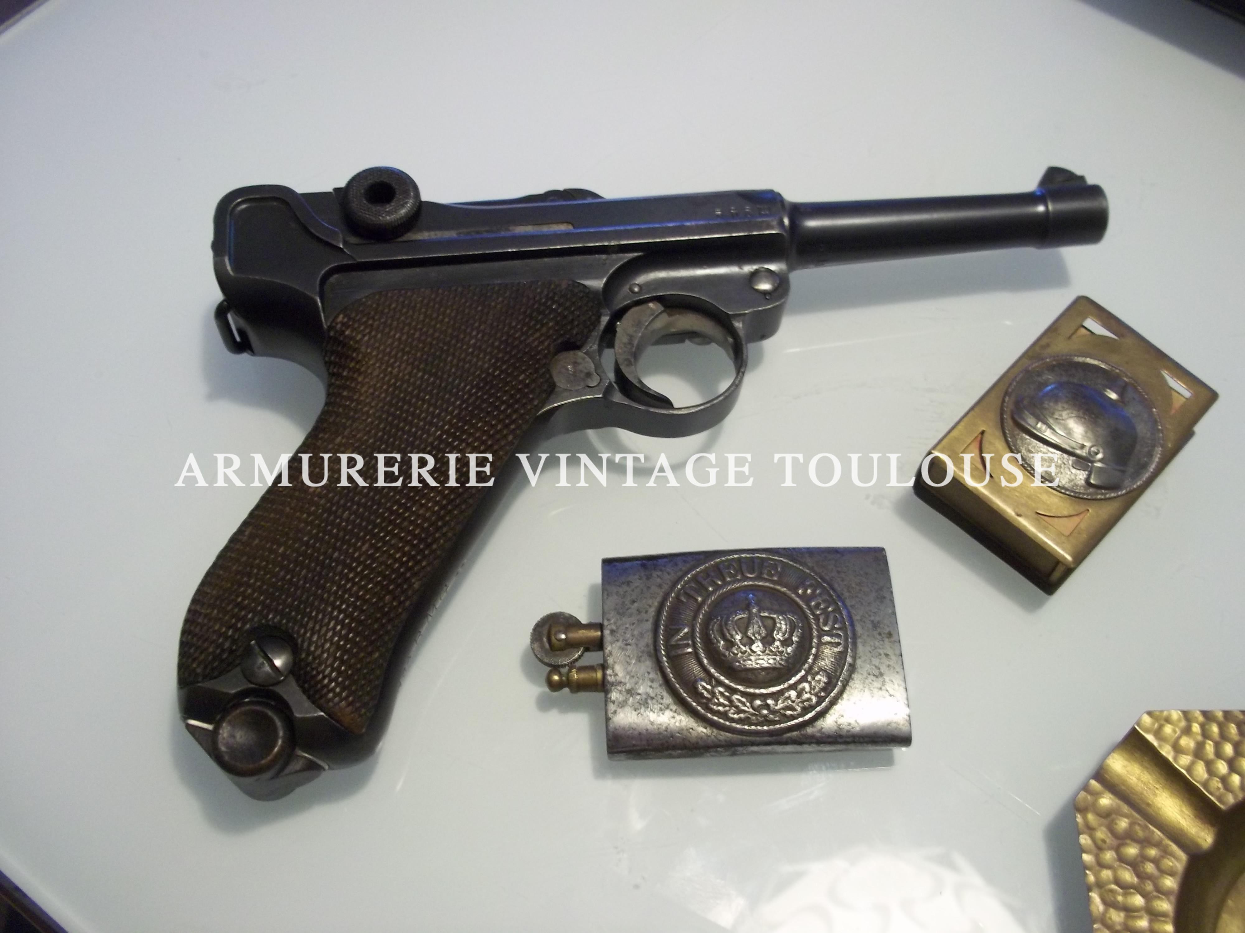 Rare P08 type 1908 fabrication Arsenal impérial d'Erfurt en 1912