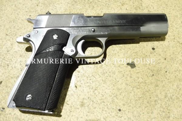 Pistolet Springfield Armory type 1911 A1 inox calibre 45 ACP