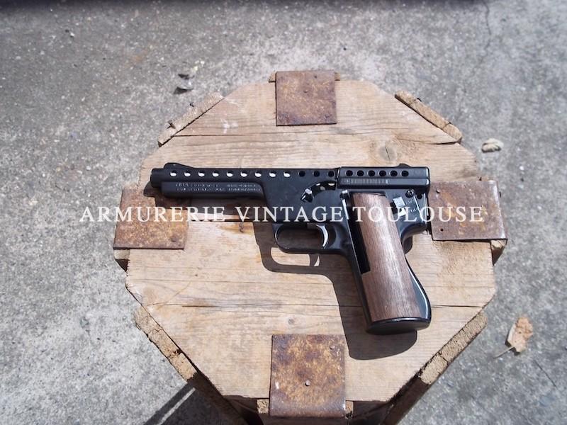 Rare pistolet à cartouche fusée Gyroget