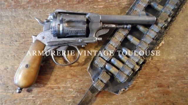 """Gros révolver de 8eme catégorie """"Monténégrin"""" calibre 11,3mm"""
