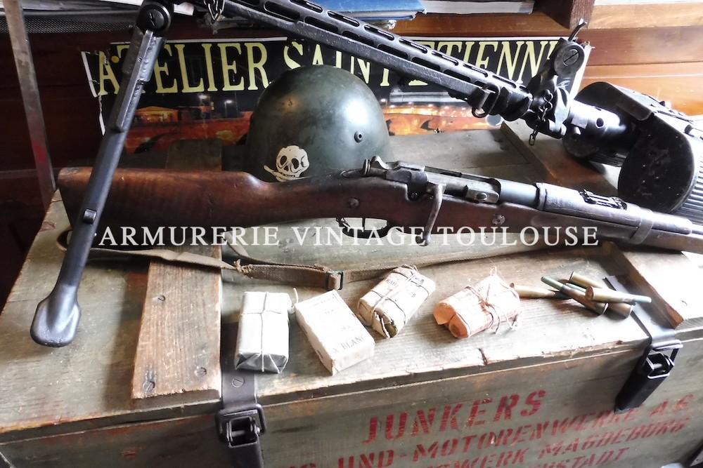 Mousqueton Berthier 1892 trois coup, monture modifiée en 1927