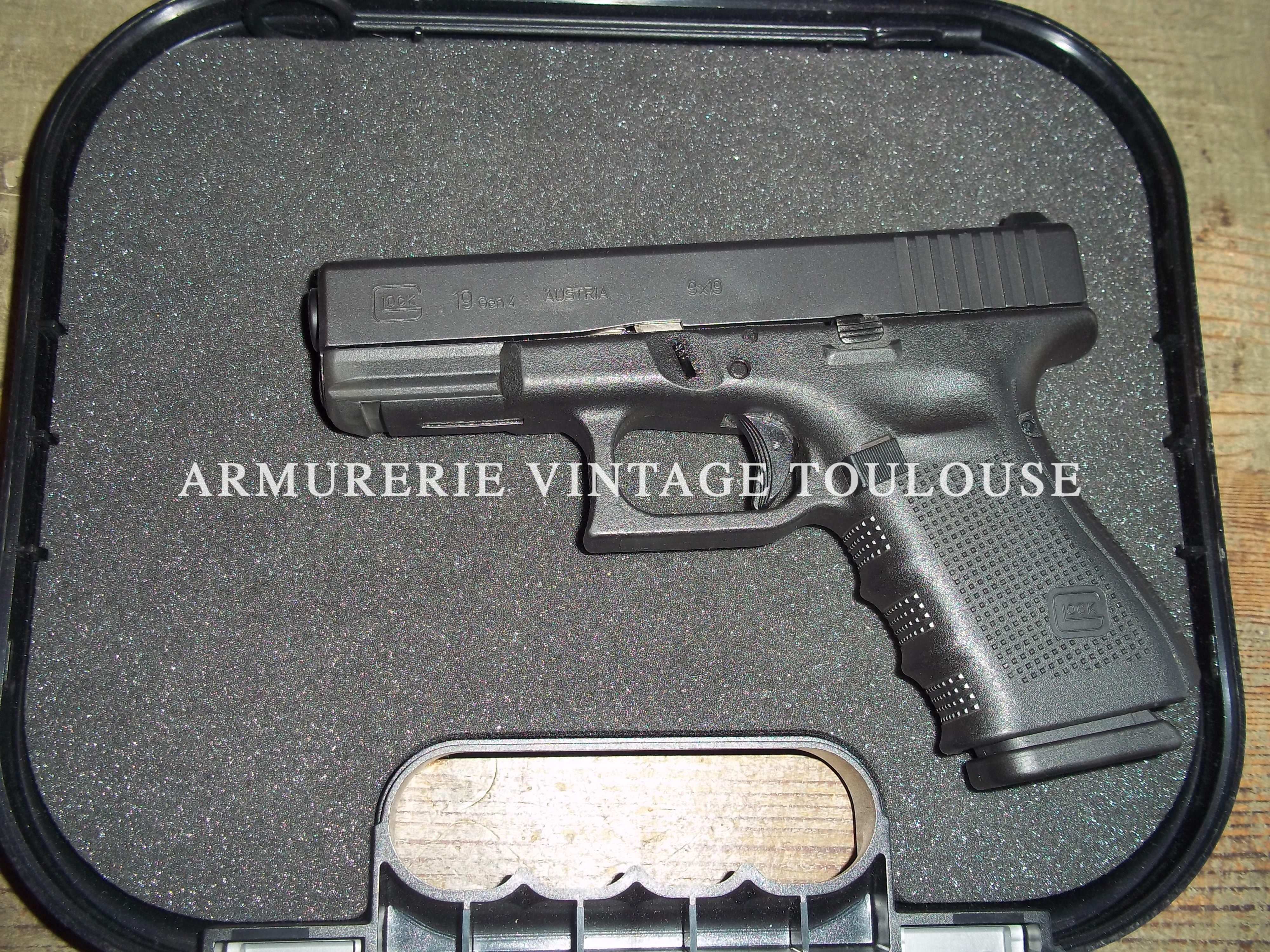 Pistolet Glock 19 Gen 4 calibre 9X19
