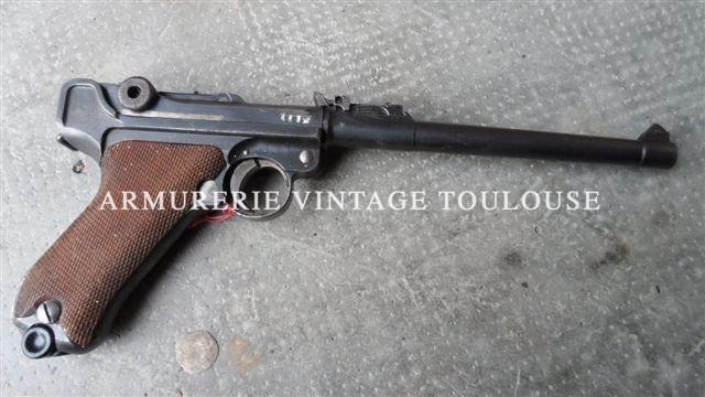 Pistolet P 08/14 arti, fabrication DWM 1917 en milieu d'année