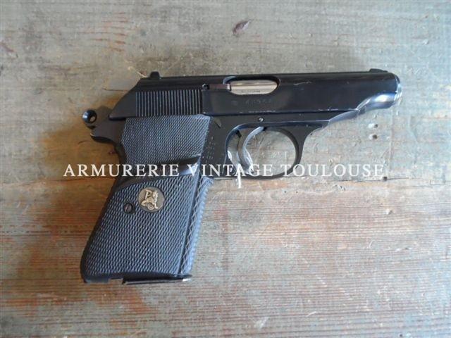 Beau pistolet en acier usiné de trés bonne fabrication Walther Manurhin type PP dans sa rare version calibre 22LR
