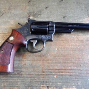Gros Revolver Smith et Wesson modèle 19 calibre 357 Magnum!