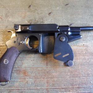 Splendide pistolet semi-automatique Bergmann 1896 nr. 3 calibre 6,5 mm Bergmann