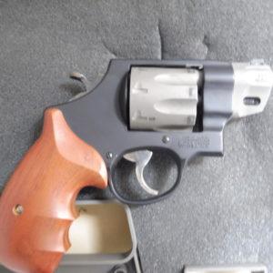 """Obusier""""manuel!!! calibre 357 Mag!! Smith et Wesson modèle 327 arme montée avec  canon 1 pouce!!!"""