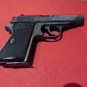 Rare pistolet Walther PP calibre 7,65 tardif