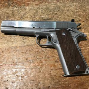 Rare pistolet AMT Hardballer type 1911 en inox calibre 45 A.C.P.