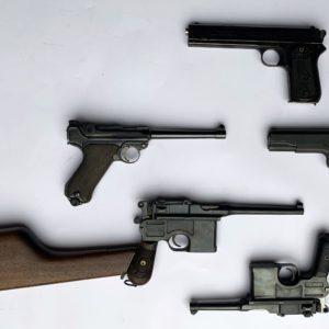 """Belle collection d'armes de poing de catégorie """"D"""" et """"B"""""""
