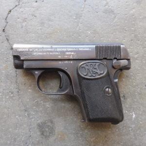 Pistolet Browning 1906 calibre 6,35 – bloqué autorisation !
