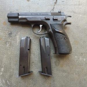 Pistolet semi-automatique CZ 85 calibre 9 x 19 double action