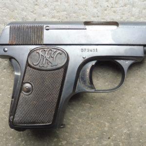 Pistolet Browning 1906 en calibre 6,35mm