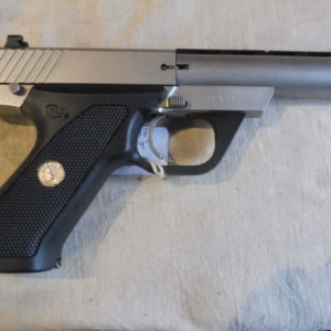 Rare petit pistolet semi-automatique Colt calibre 22 LR canon lourd