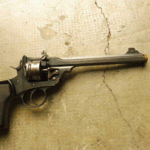 Revolver à brisure Anglais de tir en calibre 22 LR type WEBLEY MK 6 TARGET-MODEL
