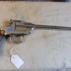 Pistolet basculant mono coup nickelé calibre 22 LR Hopkins & Allen