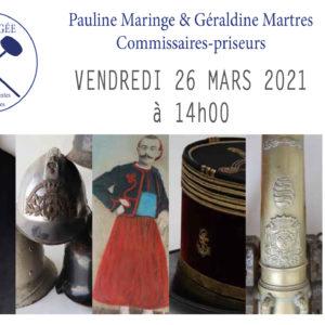 Vente aux enchères en ligne uniquementchezArtpaugé Toulouse le 26 Mars après-midi