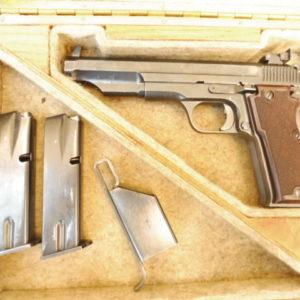 Beau pistoletFrançais MAB P15 M1 calibre 9×19 avec ses deux chargeurs, sa boite et sa rare chargette