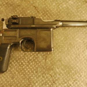 """Pistolet Mauser C96 type """"bolo"""" retubé avec un canon de P08"""