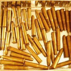 Lot de cartouches calibre 11 mm Gras à ogives blindées fabrication S.F.M.