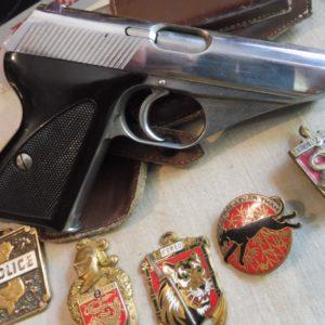 Séduisant pistolet Mauser HSC nickelé