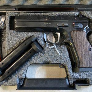Pistolet Semi automatique CZ 97 B finition gloozy bleu en calibre 45 ACP (VENDU)