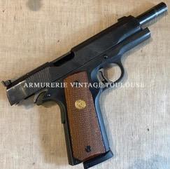 PistoletColt 1911 calibre 45 ACP en acier usiné poli glace et bronzé